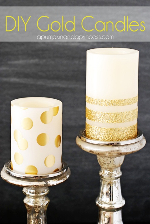 DIY-Gold-Candles