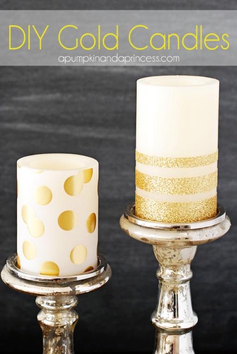 DIY-Gold-Candles