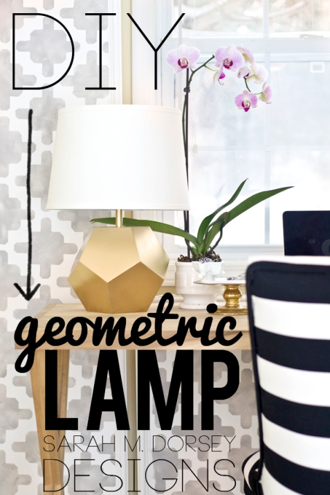 gold geometric lamp