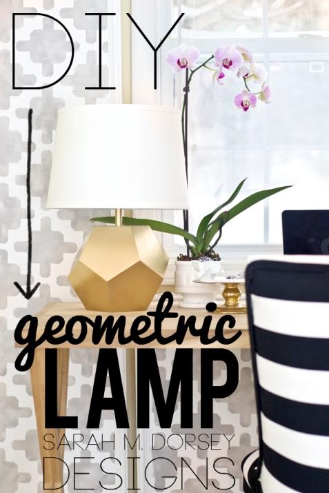 gold geometric lamp