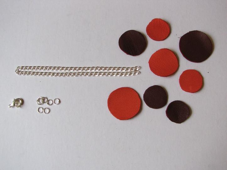 bracelet cuir - matériel